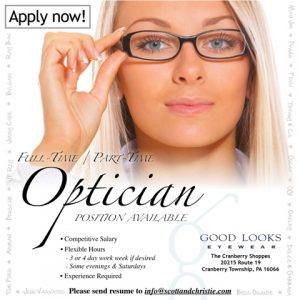 GLEOpticianAD Employment Opportunities