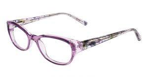 Translucent purple and floral frames by bebe